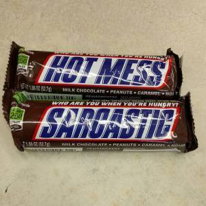 Snickers wrappers