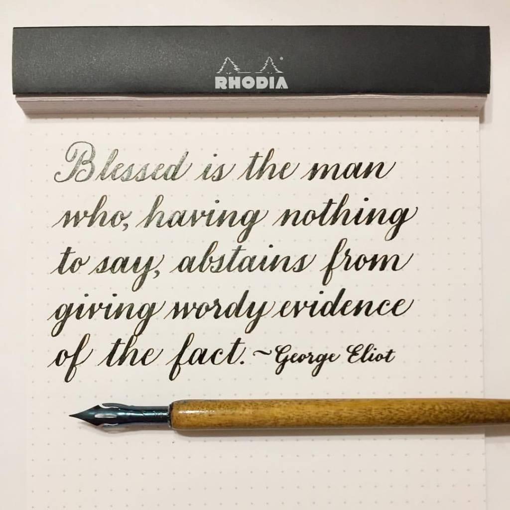 Keep quiet quote calligraphy