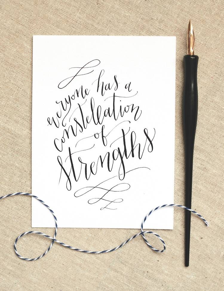 Everyone has a constellation of strengths