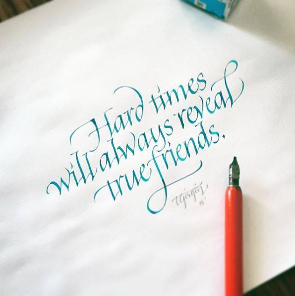 Hard Times Will Always Reveal true friends inspirational quote