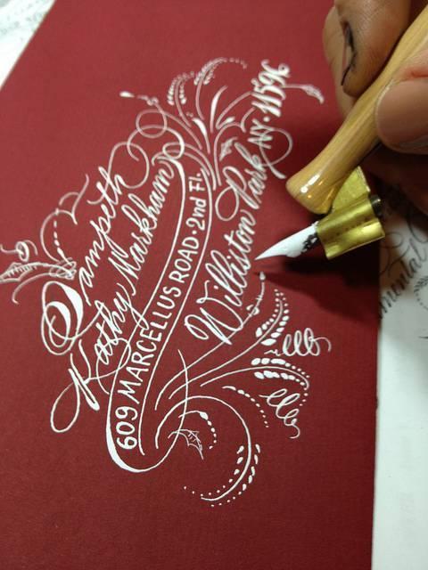 Christmas Envelope Calligraphy