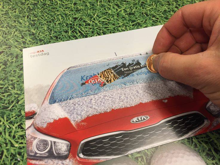 Kia Scratchcard Direct Mail Idea