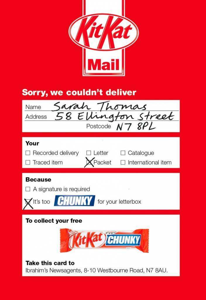 Kit Kat Direct Mail Print