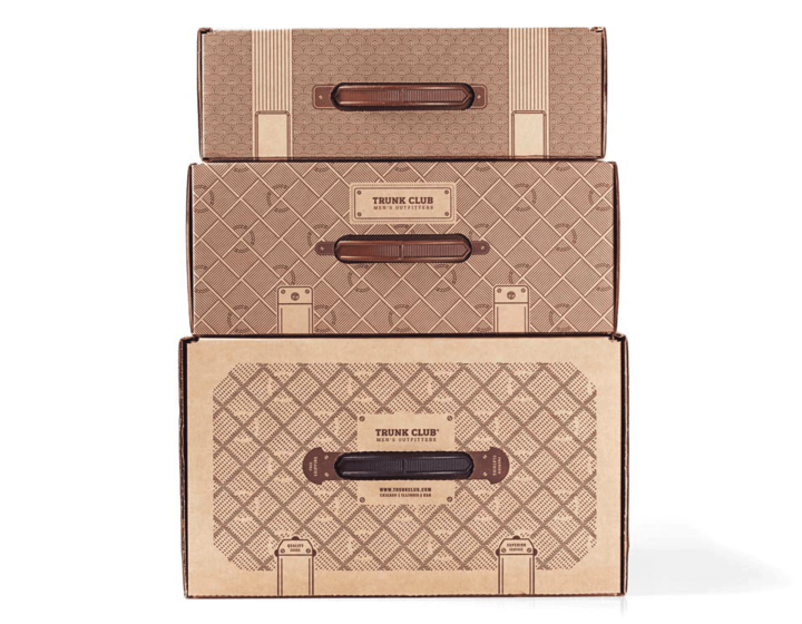 Trunk Club Cardboard Box Printed Design