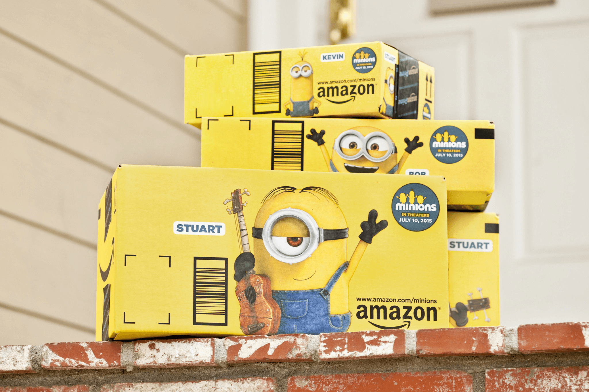 Cardboard Box Printed Design - Amazon Minions