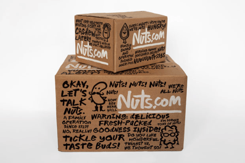 Cardboard Box Printed Design - Nuts.com