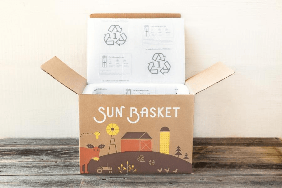 Cardboard Box Printed Design - Sun Basket