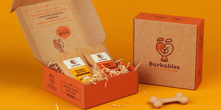 Cardboard Box Printed Design - Barkables