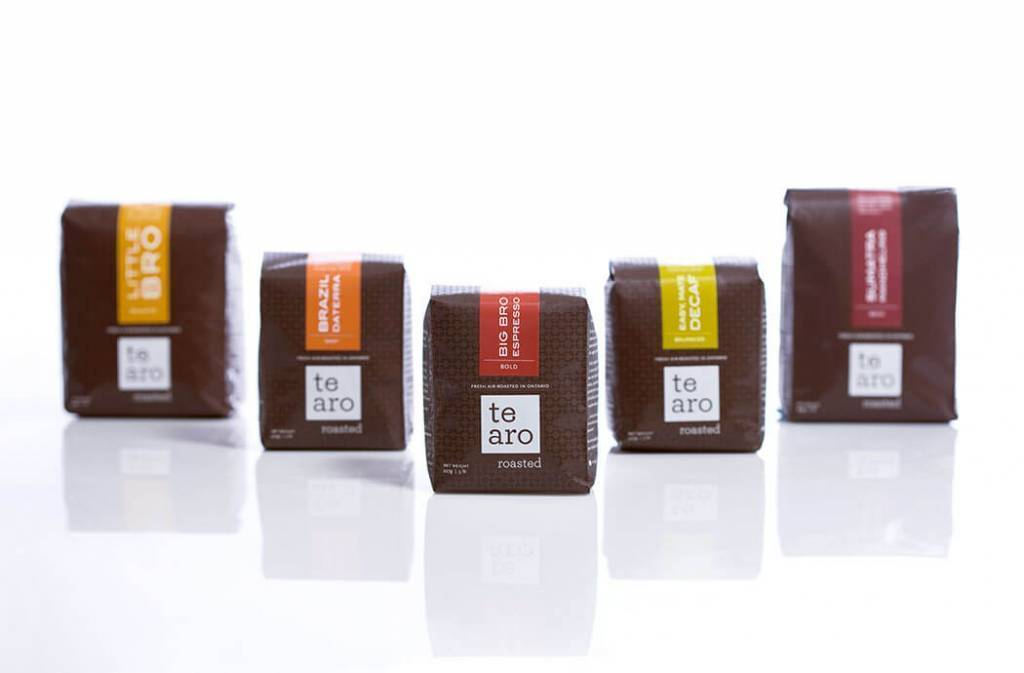 coffee packaging design by akendi for te aro brand