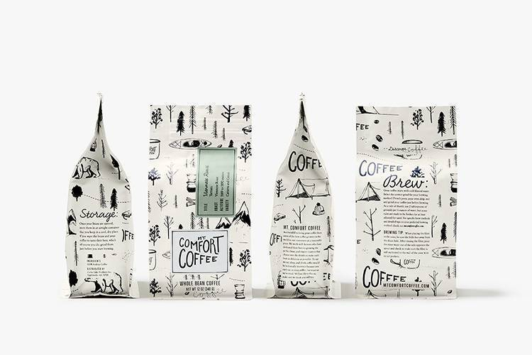 coffee packaging example by design womb for mt comfort coffee