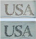 Close up of American Passport with security ink that changes from green to gold