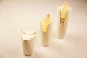 triocup paper self-closing cup