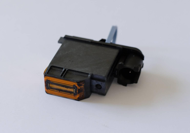 a black broken plotter printhead