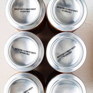 Aluminum cans with printed bottoms